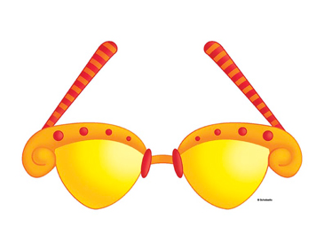 Yellow and Red Glasses - Image Clip Art