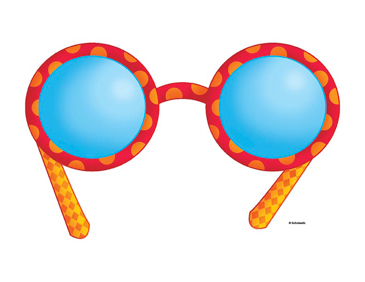 Red and Orange Glasses - Image Clip Art