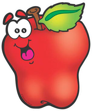 Smiling Apple - Image Clip Art