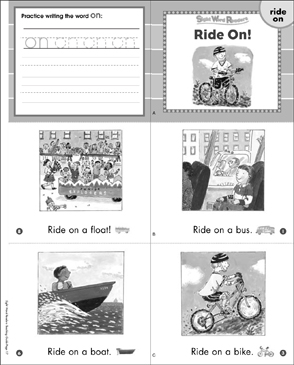 Ride On! (Ride, On): Sight Word Reader - Printable Worksheet