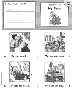 My Bear (My, Can): Sight Word Readers Mini-Books & More - Printable Worksheet