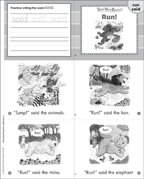 picture relating to Sight Word Book Printable known as Function! (Operate, Claimed): Sight Term Reader Printable Mini-Guides
