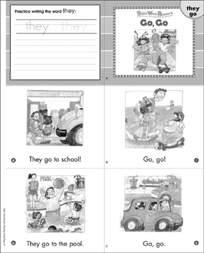 Go, Go (They, Go): Sight Word Readers Mini-Books & More - Printable Worksheet