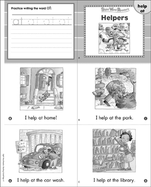 Helpers (Help, At): Sight Word Readers Mini-Books & More - Printable Worksheet