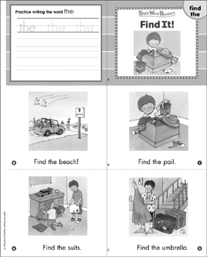 Find It! (Find, The): Sight Word Reader - Printable Worksheet