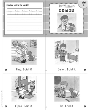 I Did It! (Did, It): Sight Word Reader - Printable Worksheet