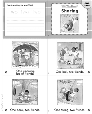 Sharing (One, Two): Sight Word Reader - Printable Worksheet