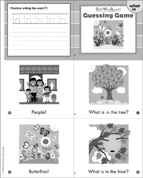 Guessing Game (What, In): Sight Word Reader - Printable Worksheet