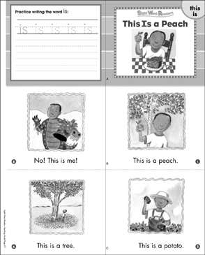 This Is a Peach (This, Is): Sight Word Reader - Printable Worksheet