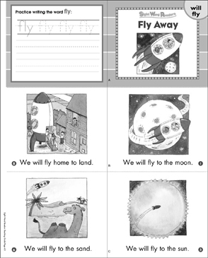 Fly Away (Will, Fly): Sight Word Reader - Printable Worksheet