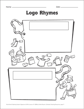 Logo Rhymes (spelling) Organizer & Mini-Lesson - Printable Worksheet