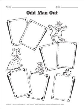 Odd Man Out (spelling) Organizer & Mini-Lesson - Printable Worksheet