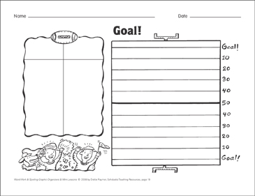 Goal! (spelling patterns) Organizer & Mini-Lesson - Printable Worksheet