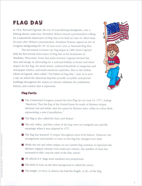 Flag Day: June Ideas and Activities - Printable Worksheet