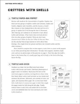 Critters With Shells (Turtles) - Printable Worksheet