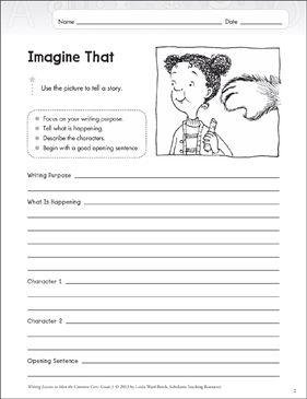 Imagine That: Grade 3 Narrative Writing Lesson - Printable Worksheet