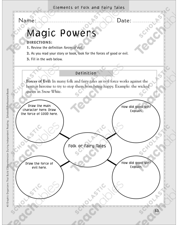 Magic Powers Elements Of Folk And Fairy Tales Graphic