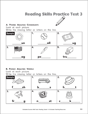 graphic relating to 3rd Grade Reading Assessment Test Printable named Examining Capabilities Educate Try out 1 (Quality 1) Printable Check