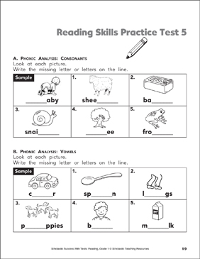 picture relating to 3rd Grade Reading Assessment Test Printable titled Studying Abilities Coach Check 1 (Quality 1) Printable Check