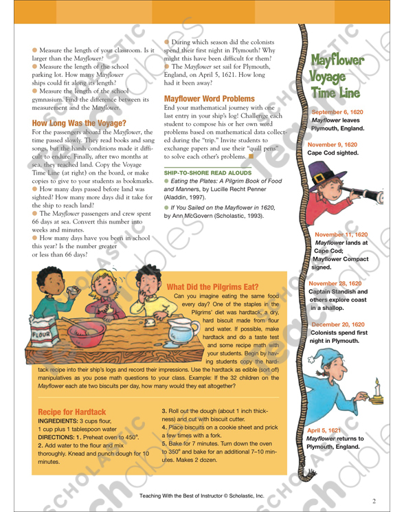 Mayflower Math Printable Lesson Plans Ideas And Skills Sheets