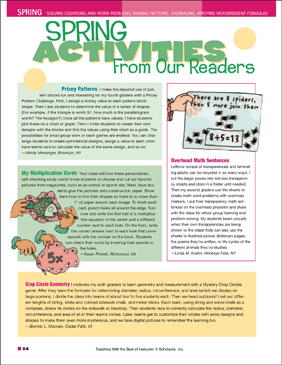 Spring Activities (Grades 1–4) - Printable Worksheet