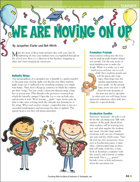We Are Moving On Up (End of Year) - Printable Worksheet