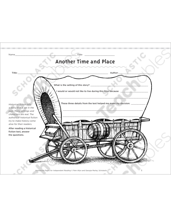 Another Time and Place: Independent Reading Homework