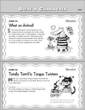 Questions About Characters: Writing Prompts - Printable Worksheet