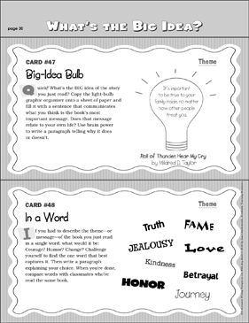 Questions About Theme: Writing Prompts - Printable Worksheet