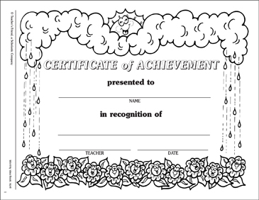 Spring Certificate of Achievement - Printable Worksheet