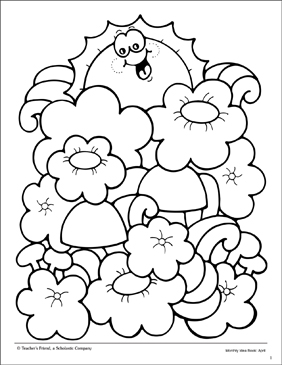 Spring Coloring Page - Printable Worksheet