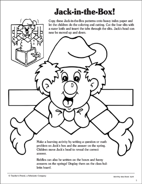 picture about Jack in the Box Printable Application referred to as Jack-in just-the-Box: Routine and Video game Notion Printable