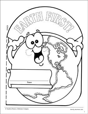 Earth Day: Booklet Cover Pattern - Printable Worksheet
