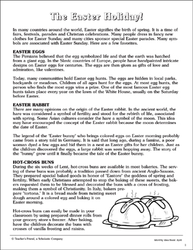 The Easter Holiday - Printable Worksheet