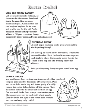 Easter Crafts - Printable Worksheet