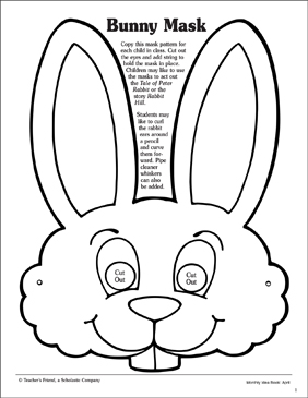 photograph about Printable Bunny Mask identify Bunny: Mask Routine Printable Arts and Crafts