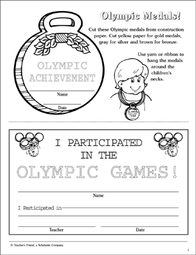 photo regarding Printable Medals identify Olympic Medals: Award Practice and Fill-Inside of Certification