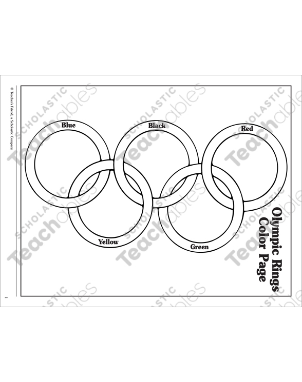 - Olympic Rings: Coloring Page Printable Coloring Pages
