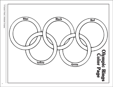 Olympic Rings: Coloring Page - Printable Worksheet