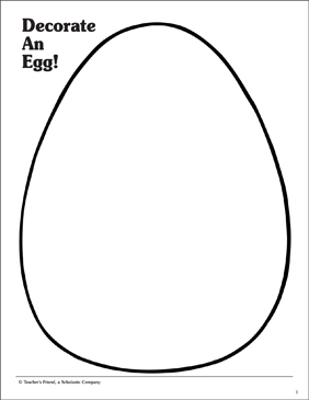 Decorate an Egg: Pattern - Printable Worksheet