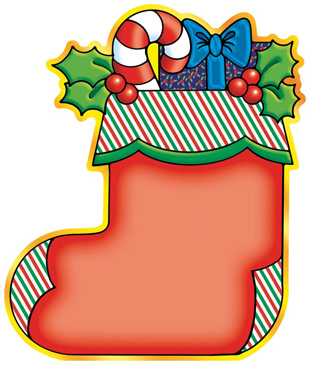 Holiday Stocking - Image Clip Art