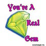 You're a Real Gem: Mini-Sticker - Image Clip Art