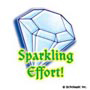 Sparkling Effort!: Mini-Sticker - Image Clip Art