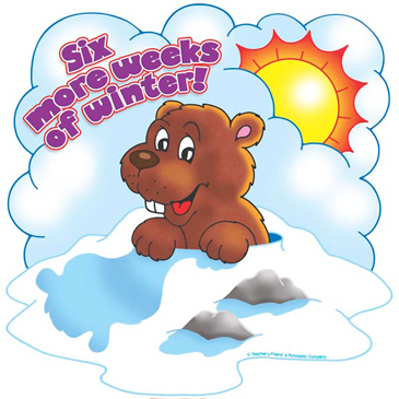 Six More Weeks of Winter! - Image Clip Art
