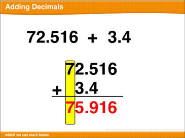 Math Review: Add Decimals, Volume, Variables, Subtract Decimals - Printable Worksheet