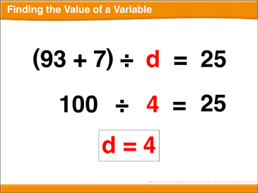 Math Review: Variables, Subtract Decimals, Unit Fractions, Ordered Pairs - Printable Worksheet