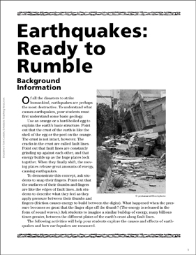 Earthquakes: Ready to Rumble - Printable Worksheet