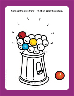 photo about Printable Gumball Machine identify Gumball Unit: Converse-the-Dots Web page Printable Talk