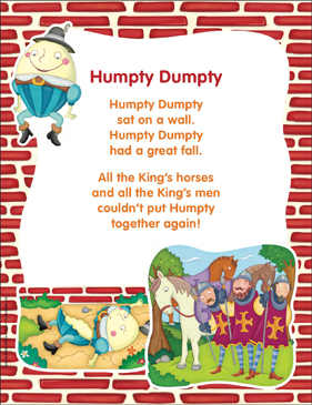 photograph about Printable Nursery Rhyme known as Humpty Dumpty: Clic Nursery Rhyme Printable Texts