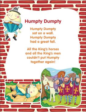 image about Printable Nursery Rhyme referred to as Humpty Dumpty: Clic Nursery Rhyme Printable Texts